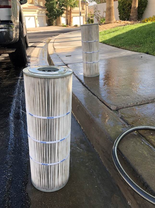 Pool Filter Cleaning - After
